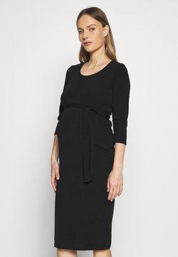 Dorothy Perkins Maternity - MATERNITY BODYCON BELTED DRESS - Trikoomekko - black
