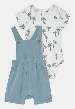 Marks & Spencer London - BABY DUNGAREE SET - T-shirt print - dusty blue