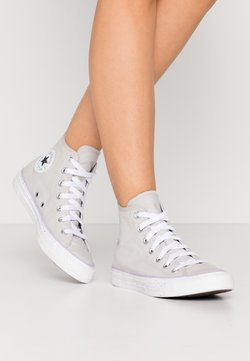 Converse - CHUCK TAYLOR ALL STAR - High-top trainers - mouse/white/moonstone violet
