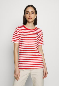 Scotch & Soda - EASY STRIPE TEE WITH CHEST EMBROIDERY - T-Shirt print - combo