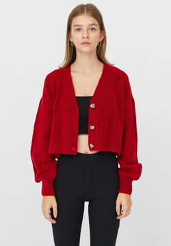 Stradivarius - Strickjacke - red