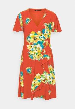 Lauren Ralph Lauren - GLADYS - Jerseykleid - hibiscus/yellow/multi