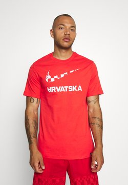 Nike Performance - KROATIEN CRO TEE GROUND - Nationalmannschaft - light crimson