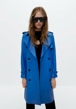 Uterqüe - Skinnjacka - neon blue