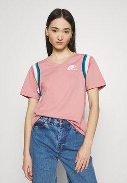 Nike Sportswear - T-Shirt print - rust pink/white