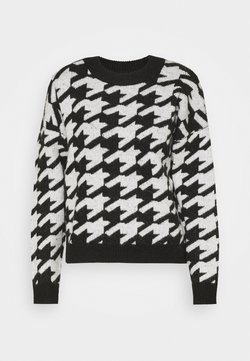 JDY - JDYAXIS  - Strickpullover - black/white check