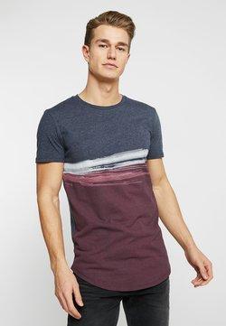 TOM TAILOR DENIM - T-shirt imprimé - deep burgundy red