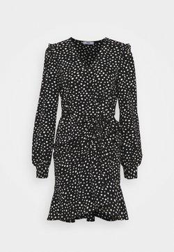 ONLY - ONLSANDY SHORT DRESS  - Korte jurk - black/white