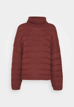 Noisy May - NMWENDY HIGH NECK - Strickpullover - hot chocolate