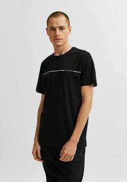 Selected Homme - Printtipaita - black