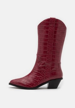 NA-KD - STRAIGHT  - Cowboy-/Bikerboot - wine red