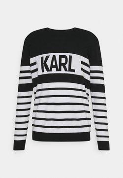 KARL LAGERFELD - CREWNECK - Strickpullover - black