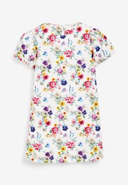 Next - BERRY FLORAL PONTE  - Freizeitkleid - off-white