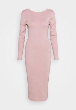 Missguided - TIE BACK MIDAXI DRESS - Sukienka dzianinowa - blush