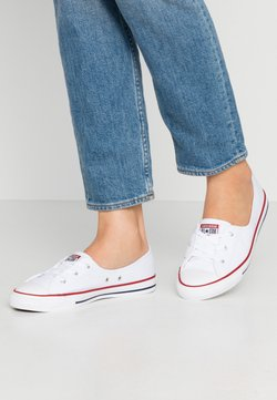 Converse - CHUCK TAYLOR ALL STAR BALLET LACE - Matalavartiset tennarit - white/garnet/navy