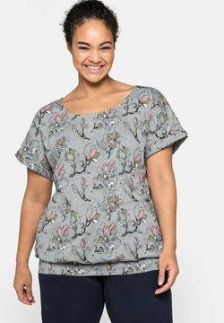 Sheego - T-Shirt print - geblümt