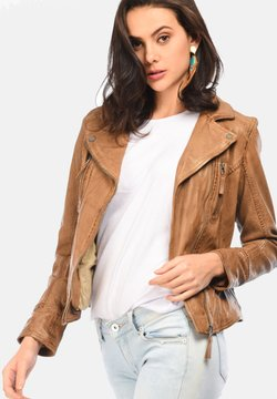 Oakwood - CAMERA - Veste en cuir - camel