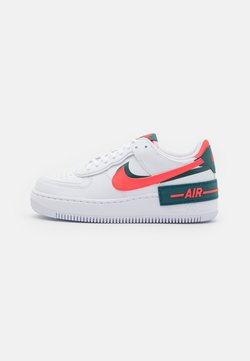 Nike Sportswear - AIR FORCE 1 SHADOW - Sneakers basse - white/dark teal green/solar red