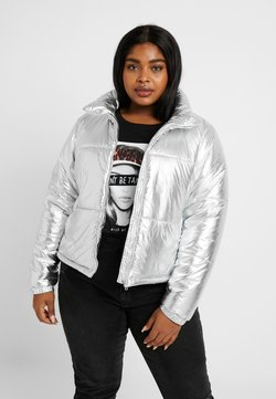 Urban Classics Curvy - LADIES METALIC PUFFER JACKET - Winterjacke - silver-coloured