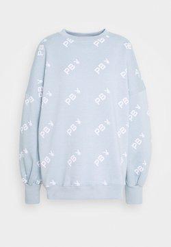 Missguided - PLAYBOY OVERSIZED - Sweatshirt - dusky blue