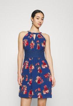 Vila - VIMILINA FLOWER DRESS - Cocktailkleid/festliches Kleid - mazarine blue/aya