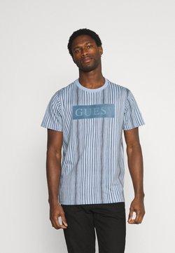 Guess - DESERT OBJECT - T-Shirt print - steel pastel/black