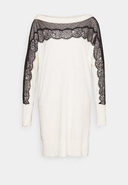 TWINSET - Jumper dress - bianco panna