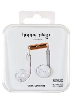 Happy Plugs - UNIK EARBUD PLUS - Høretelefoner - white marble