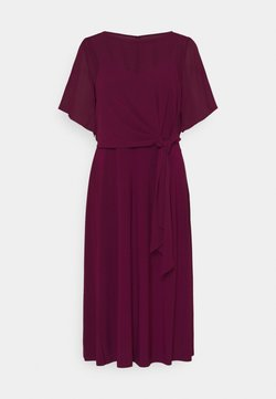 Lauren Ralph Lauren - MID WEIGHT DRESS COMBO - Cocktailkleid/festliches Kleid - exotic ruby