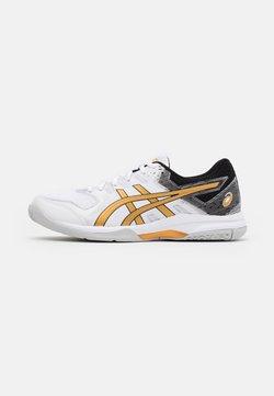 ASICS - GEL-ROCKET 9 - Volleyballschuh - white/pure gold