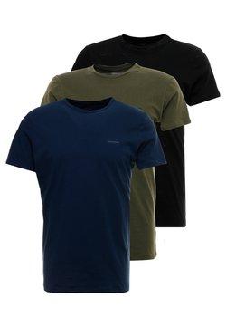 Diesel - UMTEE-JAKE 3 PACK - Nachtwäsche Shirt - schwarz/blau/grün