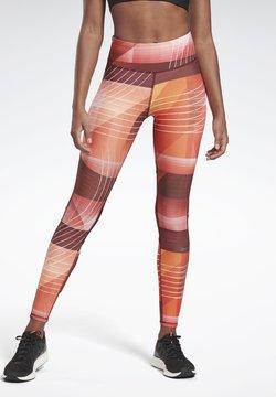 Reebok - RUNNING LUX BOLD LEGGINGS - Collants - red