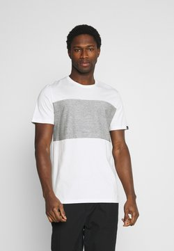 TOM TAILOR - WITH STRIPED INSERT - T-Shirt print - off-white