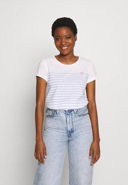 TOM TAILOR DENIM - SLUB TEE - T-Shirt print - light blue/white