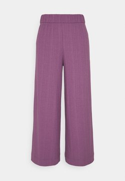 Monki - CILLA TROUSERS - Kangashousut - lilac purple medium dusty ol