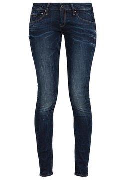 G-Star - 3301 LOW SUPER SKINNY - Jeans Skinny Fit - neutro stretch denim