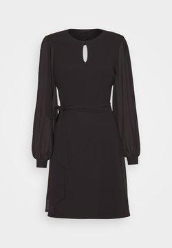 NU-IN - BALOON SLEEVE MINI DRESS - Cocktailkleid/festliches Kleid - black