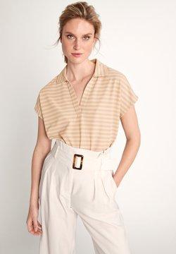 comma - Poloshirt - beige stripes