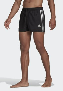 adidas Performance - 3 STRIPES CLASSICS PRIMEGREEN SWIM SHORTS - Szorty kąpielowe - black