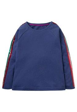 Boden - RAGLAN PAILLETTEN - T-Shirt print - segelblau