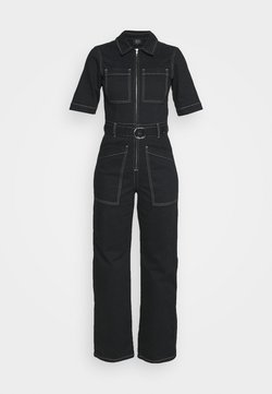BDG Urban Outfitters - CONTRAST STITCH BOILERSUIT - Overall / Jumpsuit - black