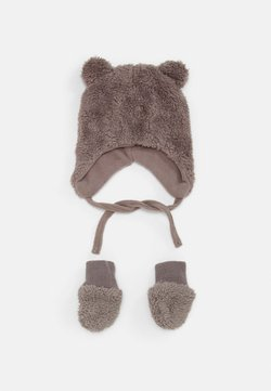 Name it - NBMMELBEL TEDDY SET UNISEX - Mütze - cinder