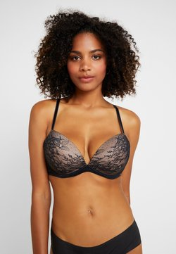 Gossard - GLOSSIES PADDED PLUNGE BRA - Biustonosz push-up - black