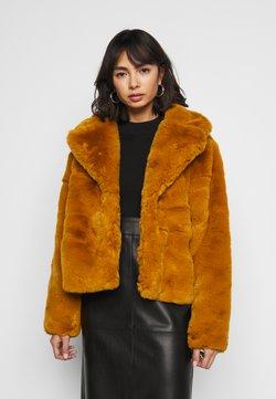 Missguided Petite - SHORT COLLAR COAT - Winterjacke - camel