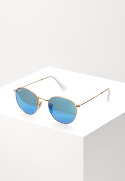 Ray-Ban - 0RB3447 ROUND METAL - Occhiali da sole - gold-coloured/blue