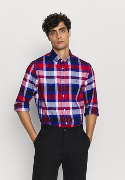 Tommy Hilfiger - FLEX BRIGHT MIDSCALE CHECK - Camisa - red