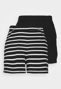 ONLY Tall - ONLMAY LIFE 2 PACK - Shorts - black/cloud dancer