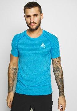 ODLO - CREW NECK SEAMLESS ELEMENT - Camiseta estampada - blue aster melange