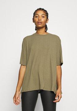 Monki - GILL - T-shirt basic - khaki green medium dusty