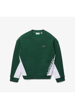 Lacoste - LOGO BLOCK  - Sweatshirt - grün / weiß